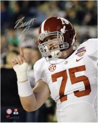 Barrett Jones Alabama Crimson Tide Autographed 8'' x 10'' Finger Wag Photograph - Mounted Memories