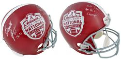 Barrett Jones Alabama Crimson Tide 2012 BCS National Champions Back-to-Back Champions Autographed Replica Football Helmet - Mounted Memories