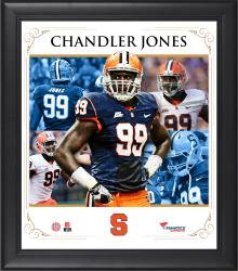 "Chandler Jones Syracuse Orange Framed 15"" x 17"" Core Composite Photograph"