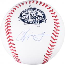 Chipper Jones Atlanta Braves Autographed Retirement Baseball