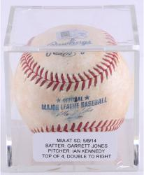 JONES, GARRETT GAME USED (5/8/14 V SD) T4 DOUBLE BSBL (MLB) - Mounted Memories