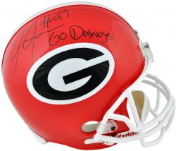 Jarvis Jones Georgia Bulldogs Autographed Riddell Replica Helmet with Go Dawgs Inscription