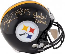 Jarvis Jones Pittsburgh Steelers Autographed Riddell Replica Helmet with Steeler Nation Inscription