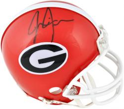 Jarvis Jones Georgia Bulldogs Autographed Riddell Mini Helmet - Mounted Memories