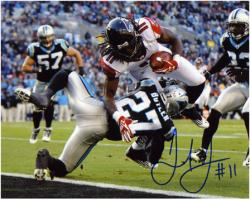 "Julio Jones Atlanta Falcons Autographed 8"" x 10"" vs Carolina Panthers Photograph"