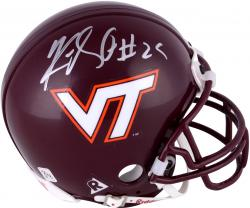 Kevin Jones Virginia Tech Hokies Autographed Riddell Mini Helmet