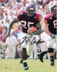 Kevin Jones Virginia Tech Hokies Autographed 8'' x 10'' Both Feet Off Ground Photograph