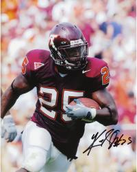 Kevin Jones Virginia Tech Hokies Autographed 8'' x 10'' Close Up Solo Photograph