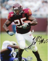 Kevin Jones Virginia Tech Hokies Autographed 8'' x 10'' Defender On Ground Photograph