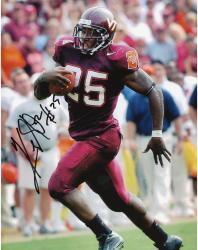 Kevin Jones Virginia Tech Hokies Autographed 8'' x 10'' Red Pants Photograph