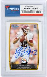 Landry Jones Pittsburgh Steelers Autographed 2013 Bowman #219 Card