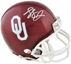 Landry Jones Oklahoma Sooners Autographed Mini Helmet - Mounted Memories