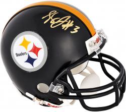 Landry Jones Pittsburgh Steelers Autographed Riddell Mini Helmet - Mounted Memories