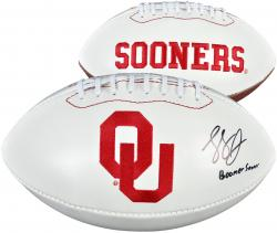 Landry Jones Oklahoma Sooners Autographed White Panel Football
