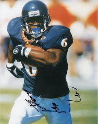 Thomas Jones Virginia Cavaliers Autographed 8'' x 10'' Running Ball Solo Photograph