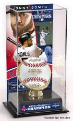 Jonny Gomes Boston Red Sox 2013 World Series Champions Gold Glove with Image Display Case - Mounted Memories