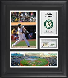 Jonny Gomes Oakland Athletics Framed 15'' x 17'' Collage with Piece of Game-Used Ball