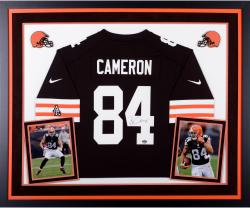 Jordan Cameron Cleveland Browns Autographed Deluxe Framed Nike Replica Brown Jersey