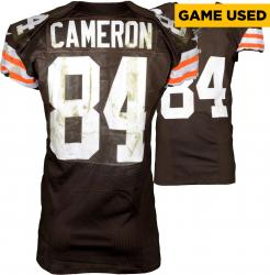 Jordan Cameron Cleveland Browns Brown Game-Used Jersey October 5, 2014 vs. Tennessee Titans