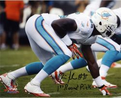Dion Jordan Miami Dolphins Autographed 8'' x 10'' Horizontal White Uniform Photograph - Mounted Memories