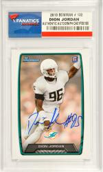 Dion Jordan Miami Dolphins Autographed 2013 Bowman Rookie #132 Card