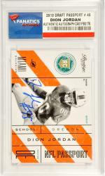 Dion Jordan Miami Dolphins Autographed 2013 Prestige Passport #40 Card