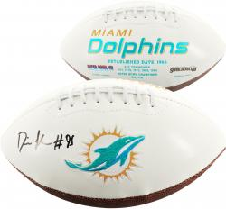 Dion Jordan Miami Dolphins Autographed White Panel Football - Mounted Memories