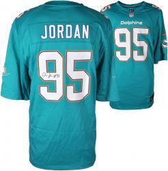 Dion Jordan Miami Dolphins Autographed Nike Game Replica Aqua Jersey