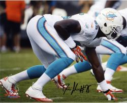 Dion Jordan Miami Dolphins Autographed 8'' x 10'' Horizontal White Squat Photograph - Mounted Memories