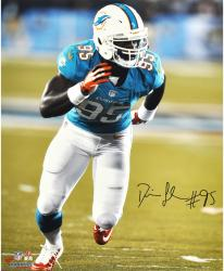 Dion Jordan Miami Dolphins Autographed 16'' x 20'' Vertical Green Run Photograph - Mounted Memories