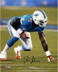 "Dion Jordan Miami Dolphins Autographed 8"" x 10"" Vertical Green Squat Photograph"