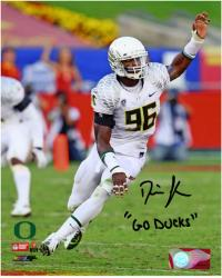Dion Jordan Oregon Ducks Autographed 8'' x 10'' Arm Up Photograph with Go Ducks Inscription - Mounted Memories