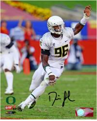 Dion Jordan Oregon Ducks Autographed 8'' x 10'' Arm Up Photograph - Mounted Memories
