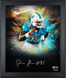 Dion Jordan Miami Dolphins Framed Autographed 20'' x 24'' In Focus Photograph-Limited Edition of 25 - Mounted Memories