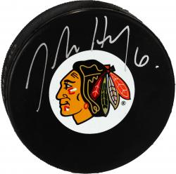 Chicago Blackhawks Jordan Hendry Autographed Puck - Mounted Memories