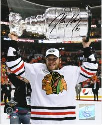 "Chicago Blackhawks Jordan Hendry 2010 Stanley Cup Champions Autographed 8"" x 10"" Photo"