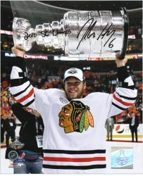 "Chicago Blackhawks Jordan Hendry 2010 Stanley Cup Champions Autographed 8"" x 10"" Photo -"