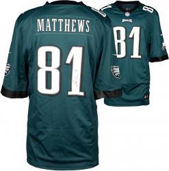 Jordan Matthews Philadelphia Eagles Autographed Nike Game Green Jersey