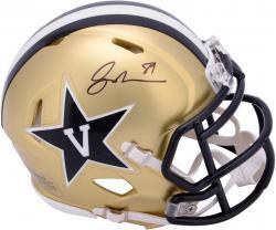 Jordan Matthews Vanderbilt Commodores Autographed Mini Helmet