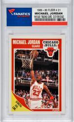 JORDAN, MICHAEL (1989-90 FLEER # 21) CARD - Mounted Memories