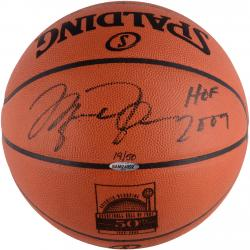 Michael Jordan Autographed Hof 50th Anniversary Basketball Uda Authenticated