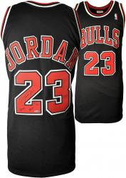 Michael Jordan Chicago Bulls Autographed Mitchell & Ness Black Jersey with HOF 2009 Inscription-Limited Edition of 123