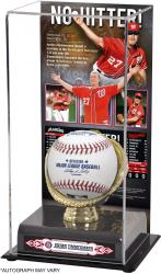 "Jordan Zimmermann Washington Nationals No-Hitter Gold Glove 10"" x 5.5"" Baseball Display Case"