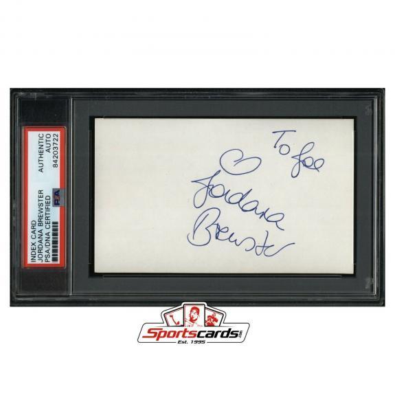 Jordana Brewster Signed 3x5 Index Card PSA/DNA Actress Fast and Furious