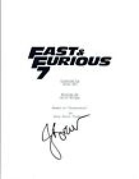 Jordana Brewster Signed Autographed FAST & FURIOUS 7 Full Movie Script COA  VD
