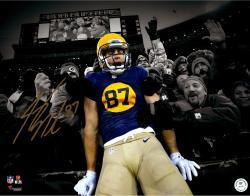 "Jordy Nelson Green Bay Packers Autographed 11"" x 14"" Lambeau Leap Spotlight Photograph"