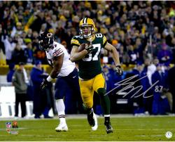 "Jordy Nelson Green Bay Packers Autographed 16"" x 20"" Run vs. Chicago Bears Photograph"
