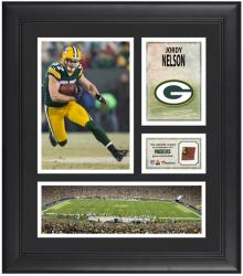 Jordy Nelson Green Bay Packers Framed 15'' x 17'' Collage with Game-Used Football - Mounted Memories