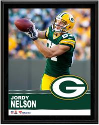 """Jordy Nelson Green Bay Packers Sublimated 10.5"""" x 13"""" Plaque"""