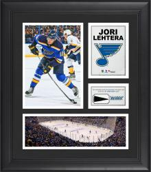 """Jori Lehtera St. Louis Blues Framed 15"""" x 17"""" Collage with Piece of Game-Used Puck"""